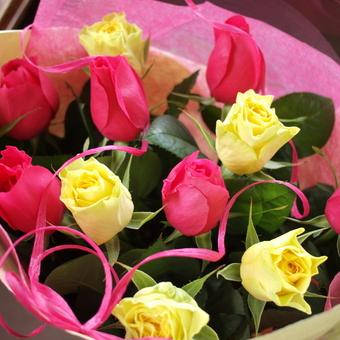 バラの花束,結婚記念日,イリオス,クリエイシモン