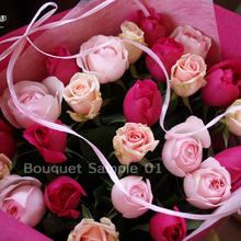 花束サンプル、予算でおまかせ花束 10500円、クリエイシモン、ヴィオリーチェ、ロマンティックエンジェル